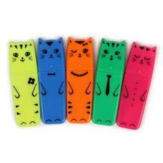 Geek Kitty cat highlighters