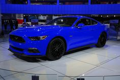 2015 ford mustang blue