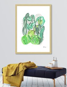 Discover «Cactusia», Exclusive Edition Fine Art Print by Sanziana Toma - From $29 - Curioos Wake Me Up, Fine Art Prints, Tapestry, Illustration, Artwork, Painting, Villa, Posters, Design