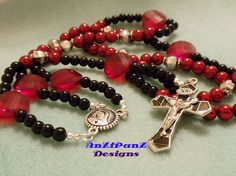 """My first Beaded Rosary for a friend """"Annie's Rosary"""""""