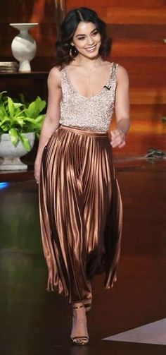 Vanessa Hudgens in Asos and Bar III makes an appearance on 'The Ellen Show'. #bestdressed