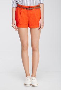 Belted Chino Shorts | Forever 21 - 2000079313