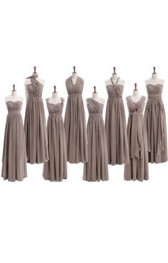 Bridesmaid Mindy Fancy floor length alternate detailed chiffon dress