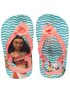 68d7610dc027 Any Disney darling will be delighted to spend summer in these easy-to-wear  sandals. They re trimmed with a pretty floral corsage and the insoles  feature ...