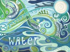 """Elements Water:  """"#Water,"""" by Jaine Rose."""