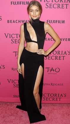 Best dressed at the Victoria's Secret Fashion Show after-party: Gigi Hadid in a sexy black cutout dress