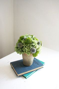 NEW- Jade Garden- dried flower arrangement