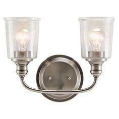 Kichler Lighting Waverly Collection 2-light Classic Pewter Bath/Vanity Light, Grey