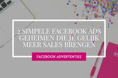 2 Simpele maar vergeten manieren die je meer sales brengen vanuit je Facebook / Social ads. Dit moet je doen voor meer webshop verkoop. Online Marketing, Success, Chart, Facebook, Blog, Seeds, Blogging