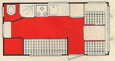 Aristocrat Vintage Trailers - LoLiner ST floorplan from the original brochure - Photo #1 of 1