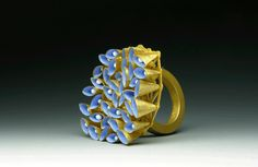 JACQUELINE RYAN, RING, 2008. GOLD 750, ENAMEL.