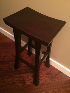"Gently used wooden dark brown bar stools.  Asking $100.00  29"" in height.  Asking $100 for a pair. Selling as a pair.  Retail $80 each  From a smoke and pet free home"