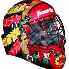 NHL Chicago Blackhawks SX Comp GFM 100 Goalie Face Mask by Franklin. $40.72. Show your team spirit with the Franklin Chicago Blackhawks NHL Team Goalie Mask Emblazoned with officially licensed team logos and colors and featuring High impact ABS Plastic with antimicrobial technology. Anatomically designed for safety and comfort with adjustable quick-snap straps to ensure proper fit. Sized for kids ages 5-9 and only for street hockey use. Not intended for ice hockey or any...