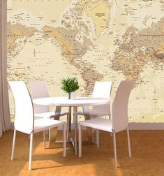I really like the idea of a map wall. Possibly for a study or a library