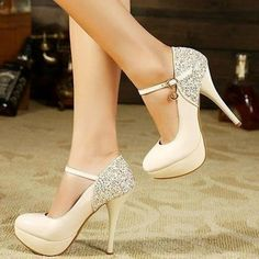 shoes white pumps stilettos heels high heels ankle strap heels ankle strap love lovely pretty cool cute amazing fashion trendy white shoes white heels wow gorgeous fabulous girl girly style stylish fashionista women sparkle shiny glitter silver silver shoes