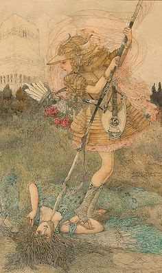 Gustave Adolf Mossa    (French, 1883-1971)  Perseus, 1907  Watercolor, pen, ink and gouache over pencil on paper