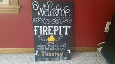 Welcome to our Firepit sign by RhisPrettyLilThings on Etsy