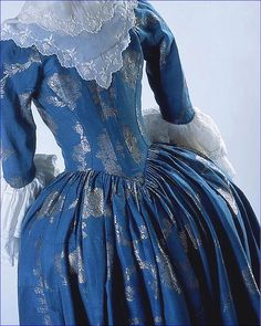 Robe à l'Anglaise detail – c.1780.