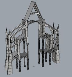 Notre Dame Cathedral: History and Planet Coaster, Gothic Architecture, Old Buildings, My Drawings, Amazing Art, Outdoor Structures, House Design, France, History