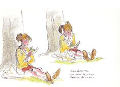 The subtleties of a quiet moment. What are you thinking; what are you feeling? Glen Keane.