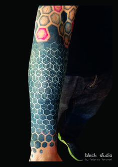 dot geometry tattoo by Fede Vero