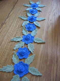 Free Crochet Pattern Flower Table Runner : 1000+ images about crocheted table toppers on Pinterest ...