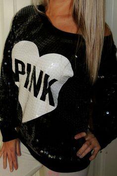 Victoria's Secret Pink Sequin sweater<3