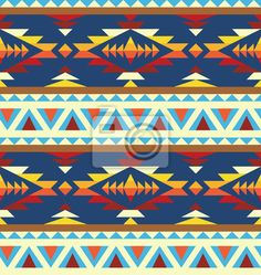Wall Decal seamless geometric pattern in navajo style - ethnic • PIXERSIZE.com