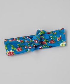 This Blue Floral Knot Headband by Indie Littles is perfect! #zulilyfinds