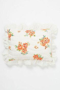 Anthropologie Esperanza Shams, 2 Standard Shams, 100% Cotton, Floral  #Anthropologie