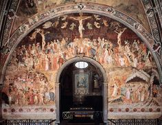 Santa Maria Novella church, Cappellone degli Spagnoli (Big Chapel of Spanish), fresco by Andrea di Bonaiuto.