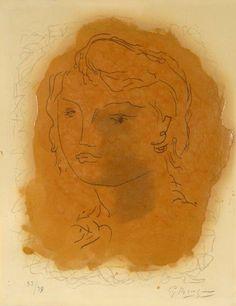 Tête de Jeune Fille - Georges Braque prints https://www.printed-editions.com/art-print/georges-braque-t%C3%AAte-de-jeune-fille-71344