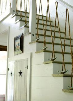 Treppengeländer aus Seilen