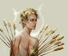 Finished this drawing of Apollo and his golden arrows. He's my favorite of the Greek mythos. Greek Mythology Art, Roman Mythology, Apollo Mythology, Apollo Aesthetic, Aesthetic Art, Greek Gods And Goddesses, Greek Art, Art Reference, Character Art