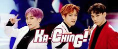 """EXO-CBX has done it again (in a different language)! On May 1, the group revealed a short music video for title track """"Ka-CHING!"""" from their upcoming Japan"""