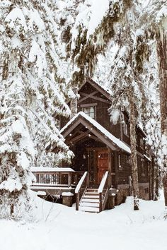 22 Must See Winter Cabins Deep In The Woods - Deluxe Timber - Check out these 22 must see winter cabins! Informationen zu 22 Must See Winter Cabins Deep In The Wo - Winter Szenen, Winter Cabin, Winter Love, Winter Season, Winter Christmas, Snow Cabin, Deep Winter, Cabin Christmas, Cozy Cabin