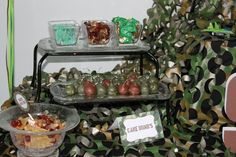 "Photo 1 of 15: Como Theme with Green Army Men / Birthday ""Army Camo Party"" 