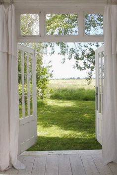 Back doors to deck. Front & back doors on little cottage Chris & I are going to build on the lot. Doors to studio/office