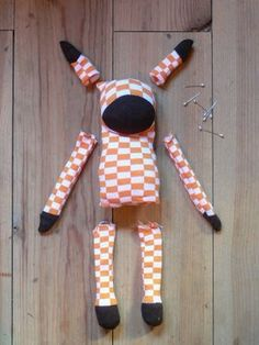 diy stuffed animal from socks