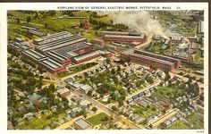 Arial View of General Electric Works, PITTSFIELD, pre-1920 postcard