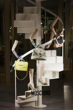 """Moschino boutique in Milan, Via Sant'Andrea 12 - January 2013 window display - Theme: """"UP"""""""