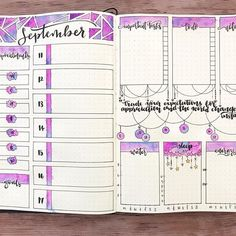 Instagram @theblackerthebujo I'm not ready for it to be monday...but my bujo is! full spread for the week. I even added a gratitude tracker this week...something I haven't used in a while but I think I need.  I'm just going to write 1-3 words in the circle spaces each day to summarize what made me smile. It's always good to remind yourself of things you are thankful for