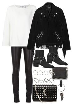 """""""Untitled #8172"""" by nikka-phillips ❤ liked on Polyvore featuring Helmut Lang, STELLA McCARTNEY, The Kooples, Yves Saint Laurent, ASOS and PA Design"""