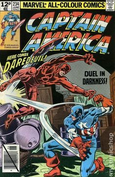 1979 marvel comic book covers | Captain America (1968 Marvel 1st Series) UK Edition 234UK