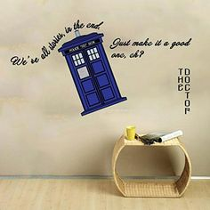 Doctor Who Room Decor Ideas For Fans. Quote Wall DecalsWall ...