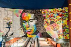 Paco de Lucía Rosh333 y Okuda (en estrecha colaboración con un tercer artista, Antonyo Marest), han realizado su intervención artística para la nueva estación de Metro de Madrid Paco de Lucía.