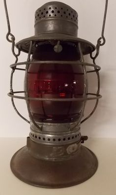 New Haven Railroad Steam Gauge 6 Lantern Red Cast