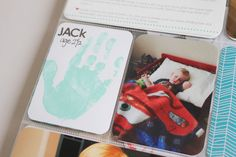 child's hand print for project life album. love!