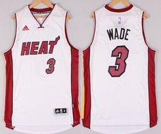 e82045e28 ... Miami Heat 3 Dwyane Wade Revolution 30 Swingman 2014 New White Jersey  ...