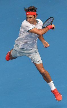 Roger Federer in the 4th round at the Australian Open